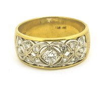 Ladies 18k Yellow Gold 0.35ct Diamond Ring