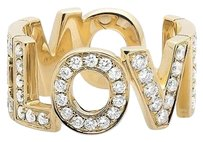 Other Ladies 18k Yellow Gold Love Spell Words Initials Real Diamonds Band Ring 1.25ct.