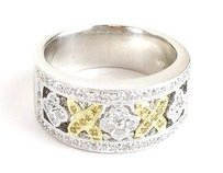 Other Ladies 18kt Wg White Yellow Diamond Ring Apx .82ctw Max063610