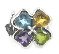 Other Ladies Multi-color Clover Ring