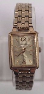 Ladies Seiko Gold Stainless Steel Watch
