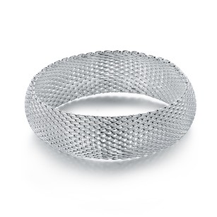 Other Large Platinum Plated Mesh Chainmail Bracelet Bangle