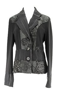 Le Gatte Geometric Womens Suit Black Viscose Blend -