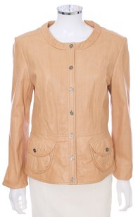 Leather Casual Tan Brown Carmel Leather Jacket