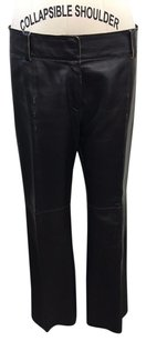 Distressed Leather Back Pants