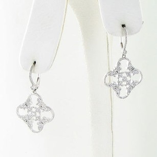 Leslie Greene Earrings Laurel Drops 0.32cts Diamonds 18k White Gold