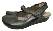 Other Otot Velcro Closure Mary Janes W Wedge Heel Womens Gray Flats