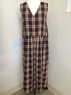 Maxi Dress by Other Baxter Wells Long Plaid Jumper Pleated Maxi Modest Button Sides