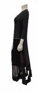 Blacks Maxi Dress by Other Angel Apparel Lace Detail V Neck Long
