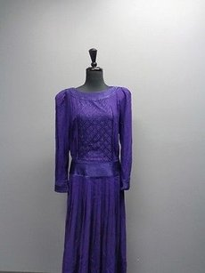 Purple Maxi Dress by Other Marie Claire For Neiman Marcus Long Rayon Sm2472