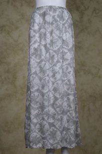 Alternative Womens White Maxi Skirt Gray
