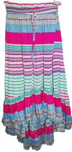 Maxi Skirt Long Skirt Waistband Multicolor New