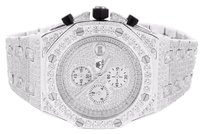 Men Simulated Diamonds Watch Iced Out Stainless Steel Ap-02 Octagon Screw Bezel