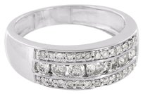 Other Men Wedding Ring 14k White Gold Round Cut Channel Set Diamond Engagement 1.20 Ct