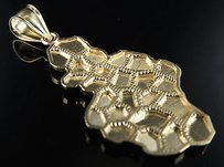 Mens 10k Yellow Gold Gold Ore Nugget Pendant