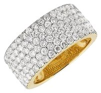 Mens 10k Yellow Gold Pave Genuine Diamond Engagement Wedding Ring Band 11mm 6.3c