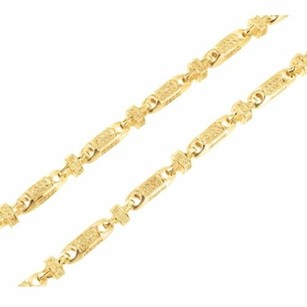 Mens 14k Yellow Gold Finish Canary Lab Diamond Iced Block Bullet Chain Necklace