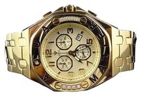 Other Mens Aqua Master Ap Mm S.steel Yellow Gold Finish Diamond Watch W340 0.24 Ct