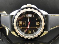 Mens Aqua Master Jojo Joe Rodeo W 334 Black And Gold Diamond Watch Mm