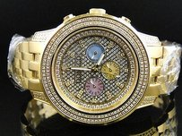 Mens Don Co Genuine Full Diamond Unique Colored Chronographs In Dial Watch