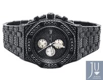 Mens Jewelry Unlimited Jojino Joe Rodeo Black Simulated Diamond Watch 43mm Ap-04
