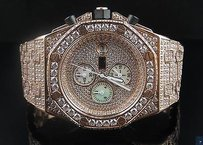 Mens Jewelry Unlimited Rose Gold Steel Simulated Diamond Watch 43mm Ap Style
