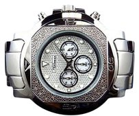 Other Mens Jojojojino Big Face Stainless Steel 55 Mm 0.25 Ct Diamond Watch Mj-1224