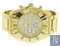 Mens Jojojojino Big Face Stainless Steel Mm 0.25 Ct Diamond Watch Mj-1215