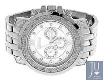 Mens Jojojojino Big Face Stainless Steel Mm 0.25 Ct Diamond Watch Mj-1220