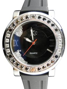 Other Mens Techno Com Kc Joe Rodeo Master Genuine Big Black White Diamond Watch 2.7 Ct