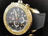 Mens Techno Com Kc Joe Rodeo Master Genuine Yellow Canary Diamond Watch 2.75 Ct