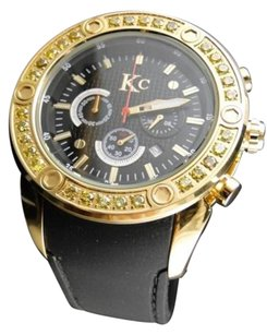 Other Mens Techno Com Kc Joe Rodeo Master Genuine Yellow Canary Diamond Watch 2.75 Ct