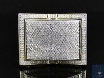 Other Mens Yellow Gold Round Cut White Diamond Pave Designer Band Ring 1.5 Ct