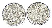 Other Mensladies Round Pave Diamond Stud Earring 12mm 2.0ct
