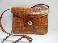 Genuine Tan Alligator Cross Body Bag