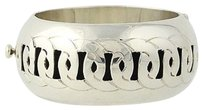 Mexican Bangle Bracelet 12 - Sterling Silver Interlocking Circles Wide