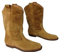 Other Maison Martin Margiela Soft Suede Mid Calf Pull On Western B3601 Tan Boots