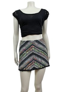 Staring At Stars Grey Mini Mini Skirt Gray/Multi