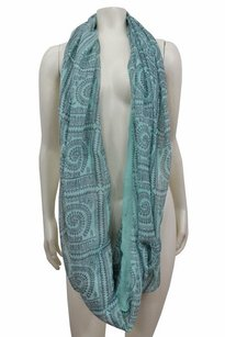 Mint Green Gray Tribal Print Infinity Scarf One