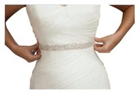 New Bridal Sash With Crystals Color Ivory