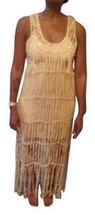 natural Maxi Dress by Other New Chic Fringe 2 Pieces