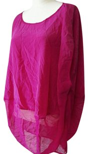 NWOT - Summer Swim Suit Cover Up - Free Size See Through Dress Pink