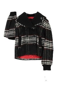 Ice By Iceberg Tartan Womens Pea Coat