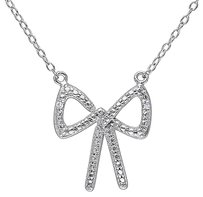 Sterling Silver 0.01 Ct Diamond Tw Fashion Pendant With Chain Hij I3
