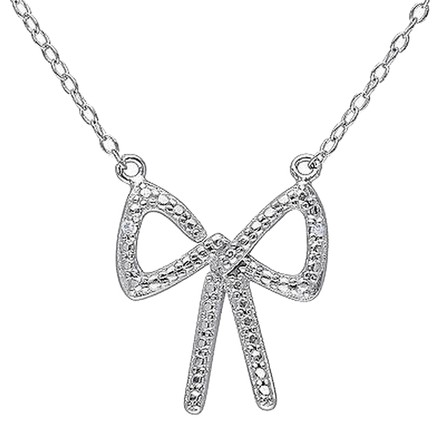 Other Sterling Silver 0.01 Ct Diamond Tw Fashion Pendant With Chain Hij I3