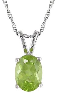 Other 10k White Gold 1 13 Ct Tgw Peridot Fashion Beauty Pendant Necklace Chain Amour