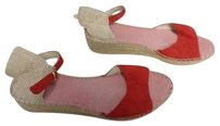 Vidorreta Leather Red Beige Sandals