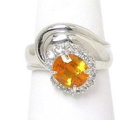 Other Platinum 2.20ctw Diamond Oval Cut Yellow Sapphire Solitaire Waccent Ring