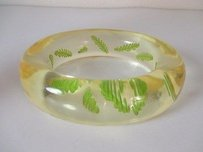 Pono By Joan Goodman Two-tone Laguna Ylw Engraved Leaf Bangle Bracelet