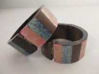 Other Pono By Joan Goodman Wood Crackle Shell Cuff Bracelet